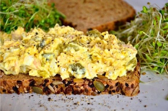 Egg Salad with Tuna and Sweet Pickles | Reluctant Entertainer. Mmmmm!