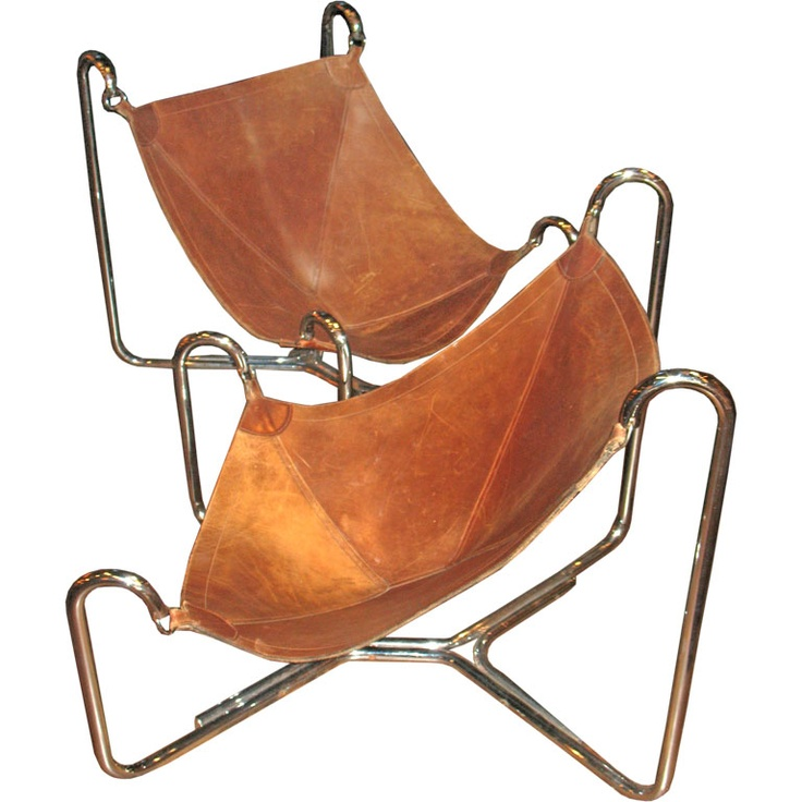 leather sling chairs have a seat for 1 pinterest