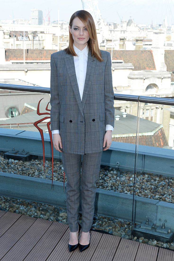 Emma Stone at a London The Amazing Spider-Man 2 press event.