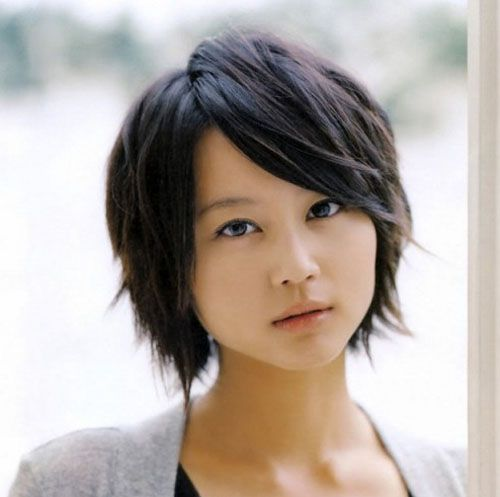 Short Hair For Round Faces Asian : Asian short hairstyles for round faces stylish