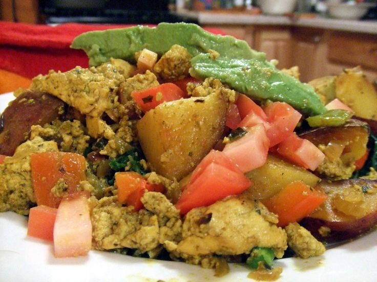 Southwestern Tofu Scramble With Greens