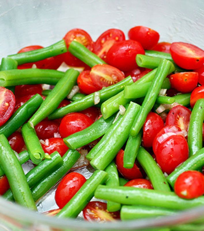 green bean salad 325 pts cherry tomato cucumber feta salad green bean ...