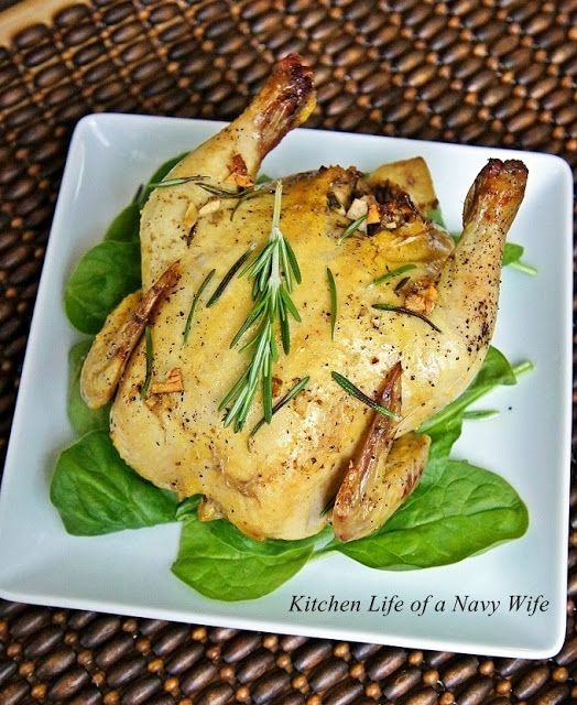 Grilled Cornish Hens With Lemon And Rosemary Recipe — Dishmaps
