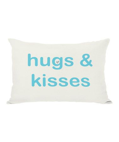 Take a look at this 'Hugs & Kisses' Reversible Pillow by OneBellaCasa on #zulily today!