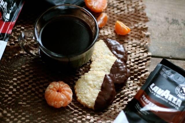 Chocolate-Dipped Almond & Orange Shortbread | Recipe