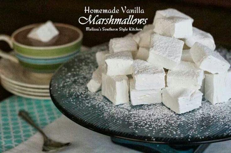 Homemade Vanilla Marshmallows.... | Desserts | Pinterest