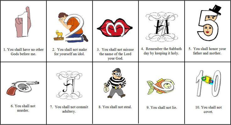 preschool 10 commandments games mazes kindergarten