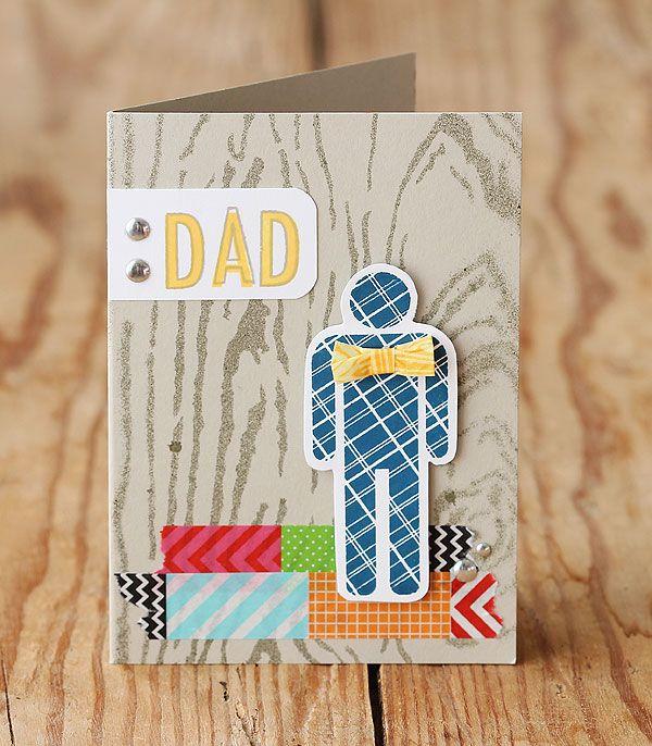 Cutest Washi man card | by Lisa Spangler