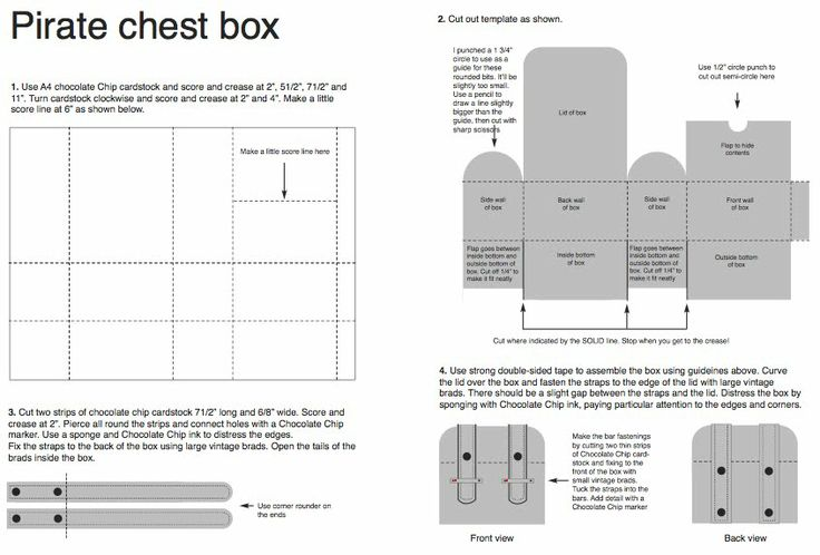free treasure chest templates