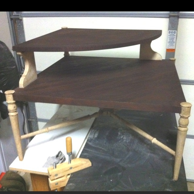 Upcycle corner table | Upcycle Furniture etc... by me | Pinterest