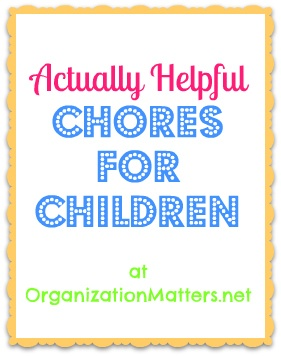 actually helpful chores for children