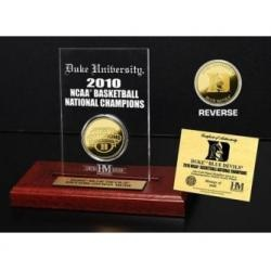 Duke Blue Devils 2010 NCAA Basketball Champions 24KT Gold Coin in an Etched Acrylic Desktop Display from The Highland Mint