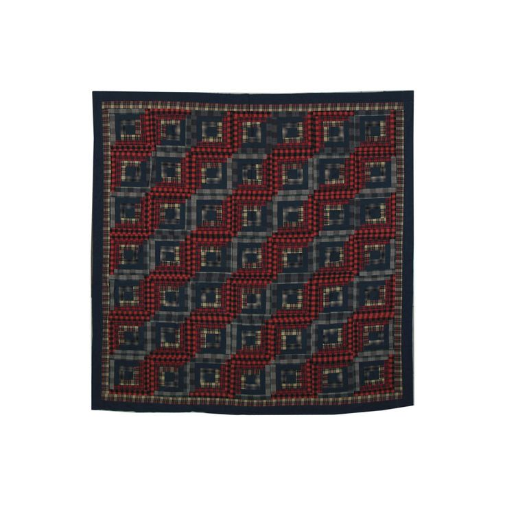 Red Log Cabin Shower Curtain