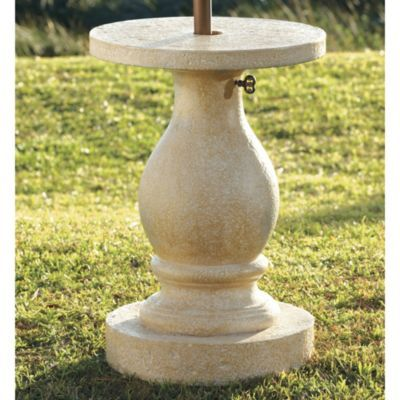 Walmart Outside Chairs ... left side, 48-60 in round with 4-6 chairs... Baluster Umbrella Stand