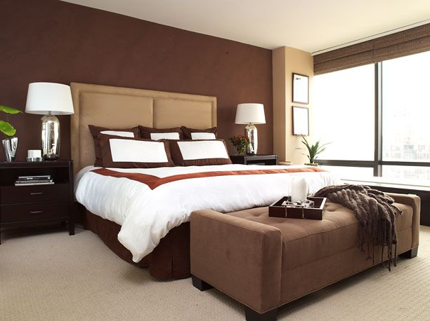 brown chocolate painting accent wall home works pinterest