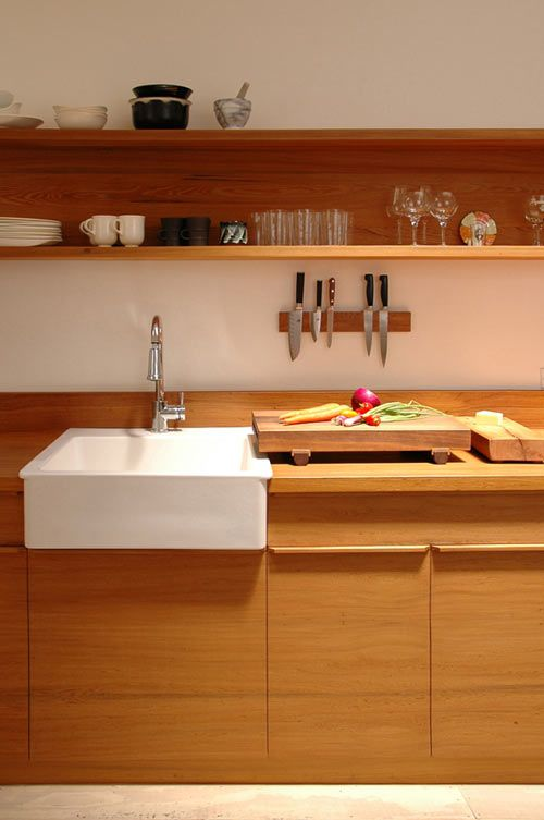 Love The White Farm Sink Against All The Wood It Reminds Me Of