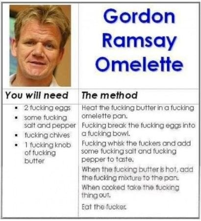 Gordon Ramsay, F'n Recipe
