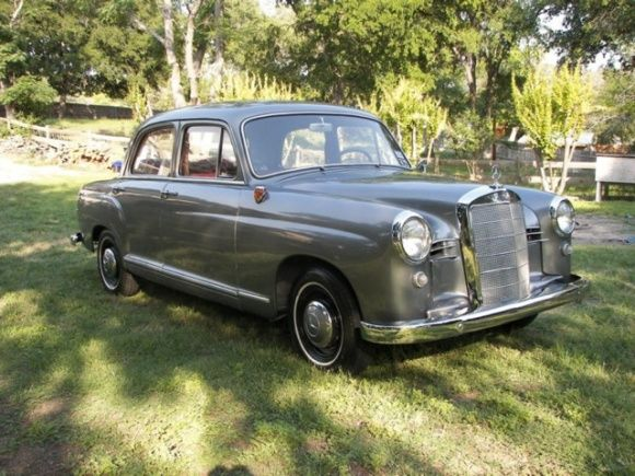 This 1957 Mercedes 190 Ponton 4-speed is said to have an almost entirely original interior and an exterior in impressive shape. The colors are good, and buying one of these already done is definitely the way to go. Find it here on eBay in Kerrville, Texas without reserve.