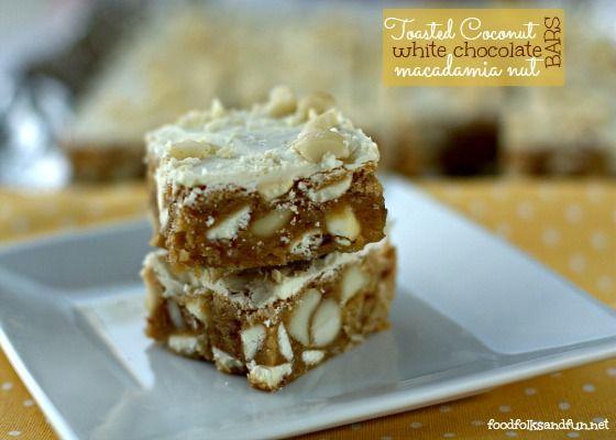 Toasted Coconut White Chocolate Macadamia Nut Bars | Recipe