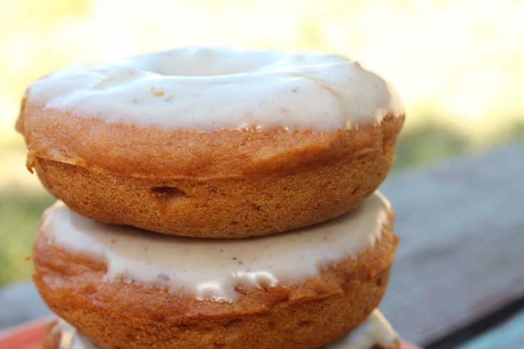 Baked Pumpkin Donuts With Cream Cheese Maple Icing Recipes ...
