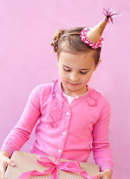 Ice Cream Cone hat (headband)