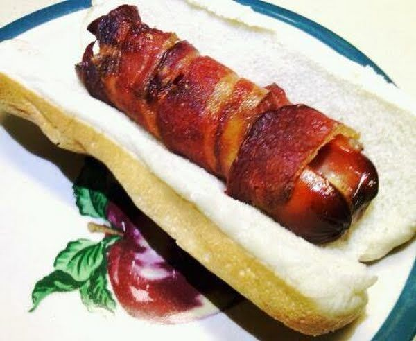 "Bacon Wrapped Cheese Stuffed Hot Dogs! 4.70 stars, 115 reviews. ""Bacon ..."