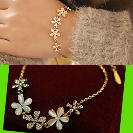 Opal Flower Rhinestone Bracelet | LilyFair Jewelry, $18.99!