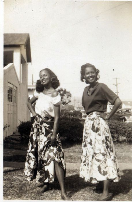 Sisters in Skirts 1950's [Donated by the Earl McCann Collection] ©WaheedPhotoArchive, 2011
