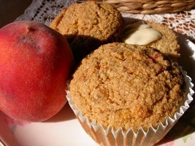 Ginger-Peach Oat Bran Muffins   Breakfast   Pinterest