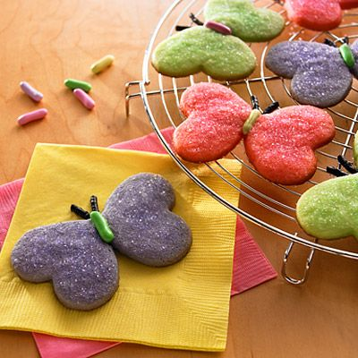 Butterfly sugar cookies.