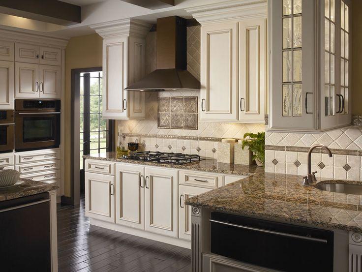 Metal Tile accents on backsplash  Kitchens  Pinterest