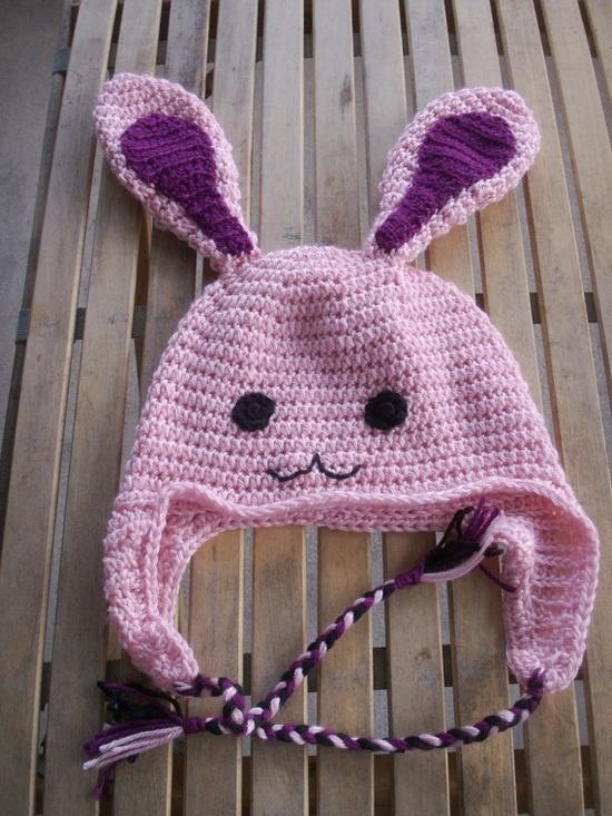 Free Crochet Pattern For Bunny Ears : Free Crochet Patterns / Bunny hat Crochet Pinterest