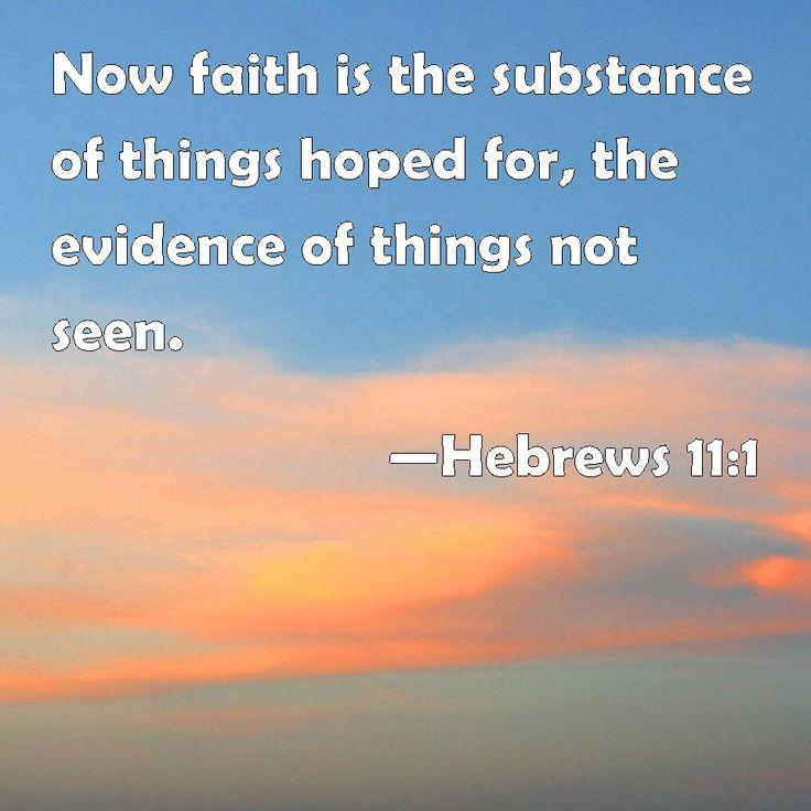 Hebrews 11:1 | For the Home | Pinterest