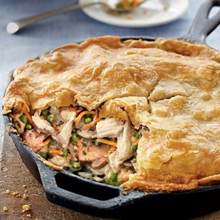 Skillet Chicken pot pie | Casseroles and Skillet Suppers | Pinterest