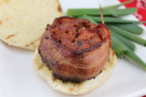 Bacon Wrapped Beef Burger