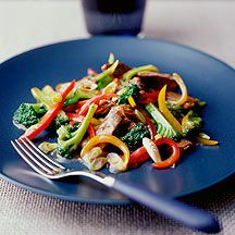 Flank Steak Stir-Fry With Asparagus And Red Pepper Recipes ...