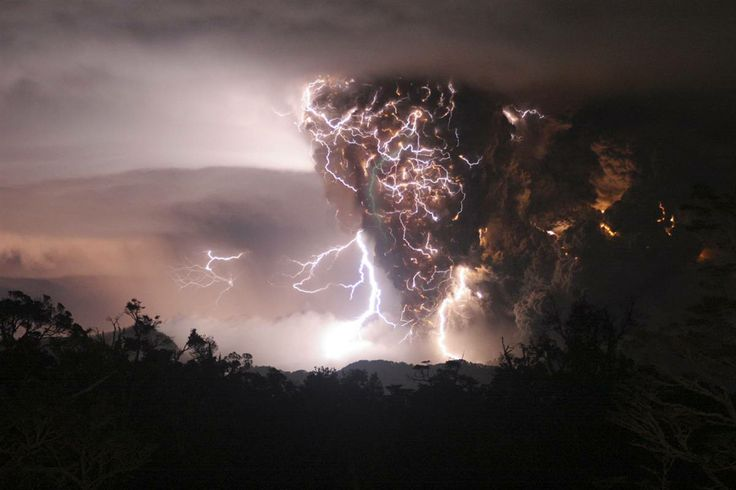 Chilean Chaiten volcano strike as seen from Chana 050208, photographer unknown