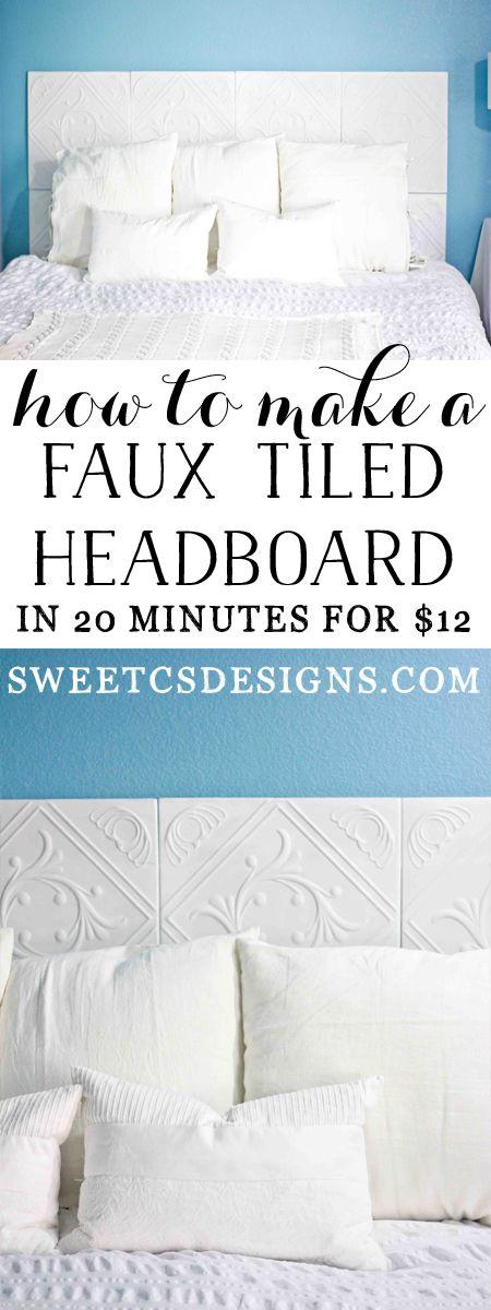 Faux Tiled Headboard - Sweet C's Designs