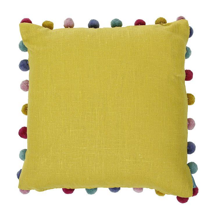 Pom Pom Cushion - Saffron from Bluebellgray