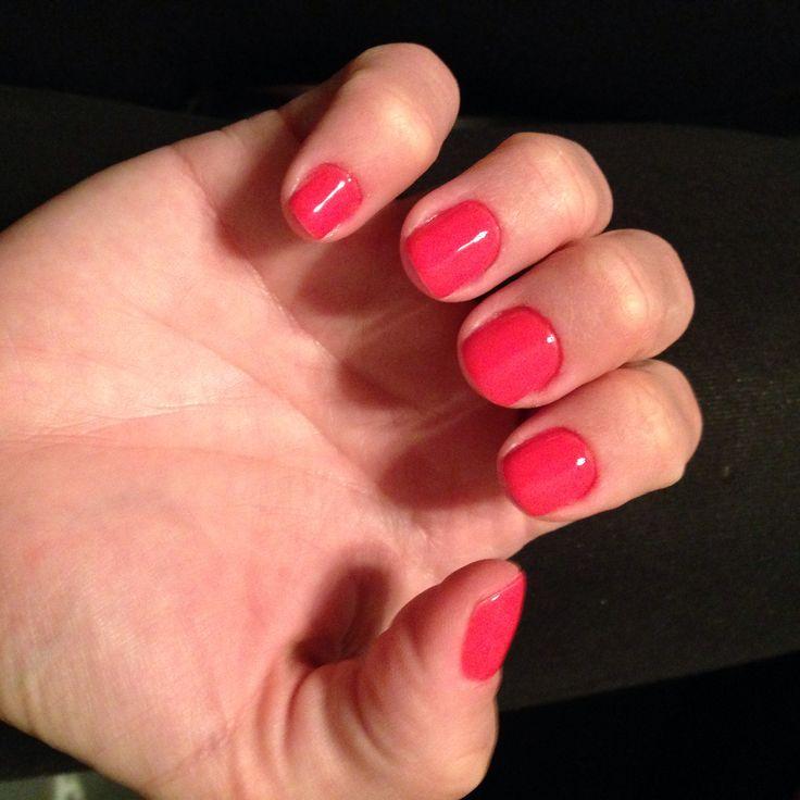 Sally Hansen Kook A Mango gel manicure | Ooh-La La! | Pinterest