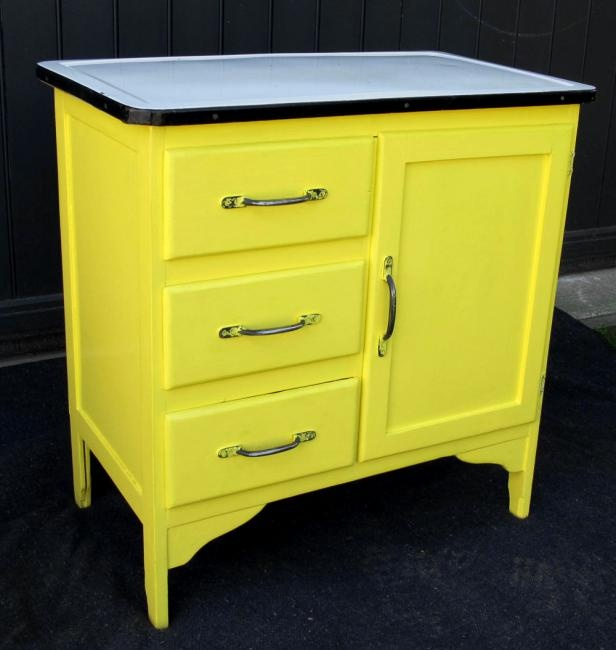 Vintage Enamel Top Kitchen Cabinet Kitchen Pinterest