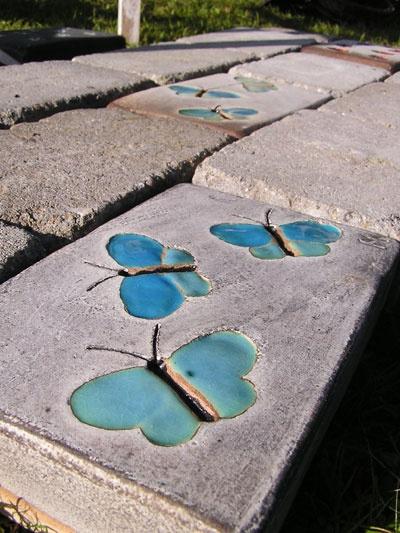 Garden tiles, Helle Norby.