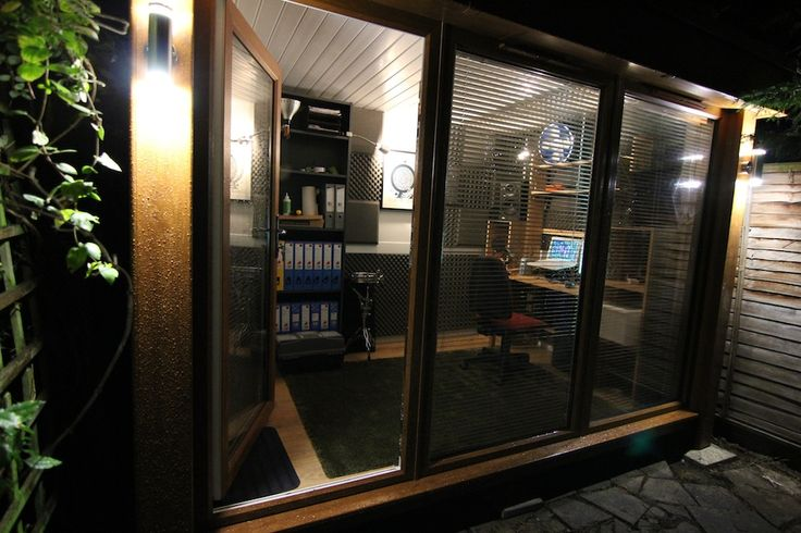 Music studio shed google search interior spaces for Garden shed music studio