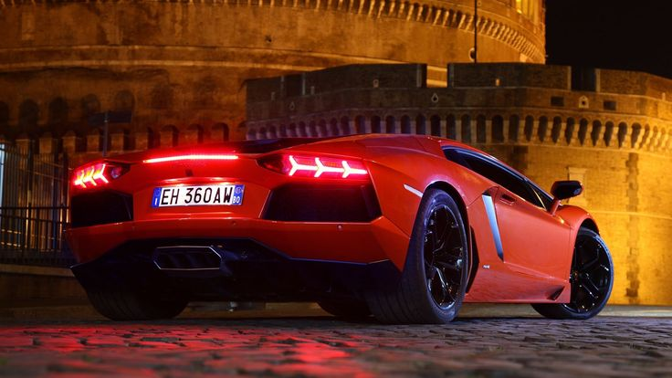 Cars: Red Lamborghini Aventador