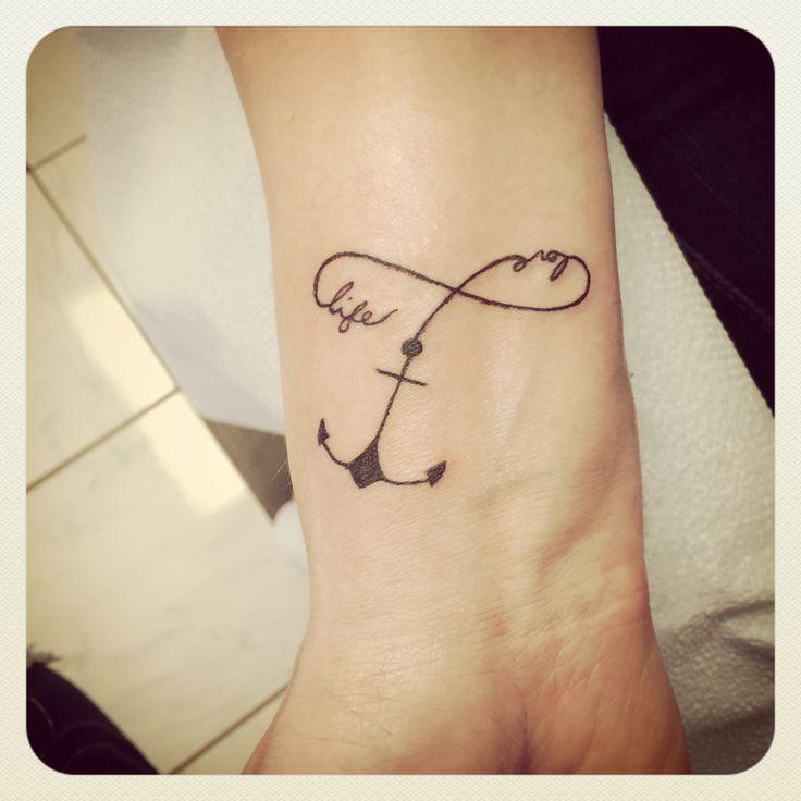 Anchor & Infinity Symbol wrist tattoo
