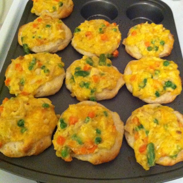 Chicken Pot Pie Cupcakes | Recipe