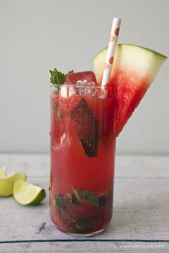 Watermelon mojitos   yumo   Pinterest