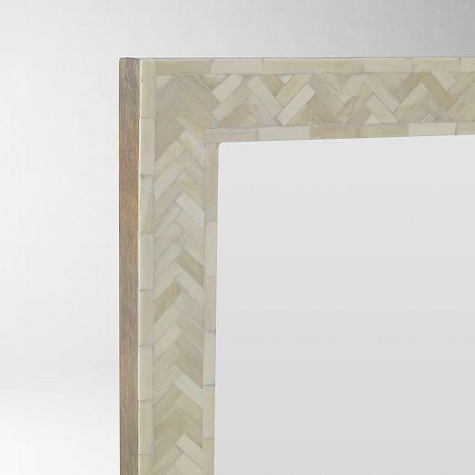 Parsons Large Wall Mirror Bone Inlay