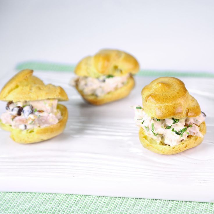 Baby Chicken Salad Puffs by Clinton Kelly #TheChew #Puffs #Party