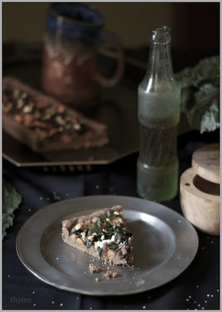 : Swiss Chard, Sweet Potato, and Goat Cheese Tart...with Teff Crust ...